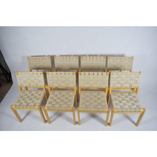 Artek Alvar Aalto 615 Chairs - Set of 8 For Sale - Image 4 of 8