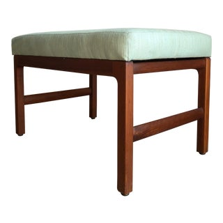 Vintage Mid Century Modern Bench by Gunlocke Chair Co. For Sale