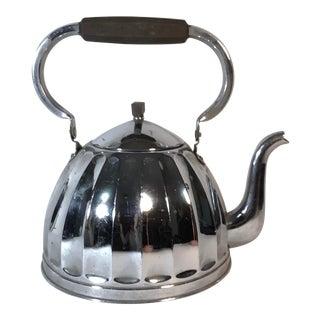 European Art Deco Rood Koperen Bodem Fond Tea Kettle For Sale