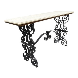 Gothic Scrolling Wrought Iron Console