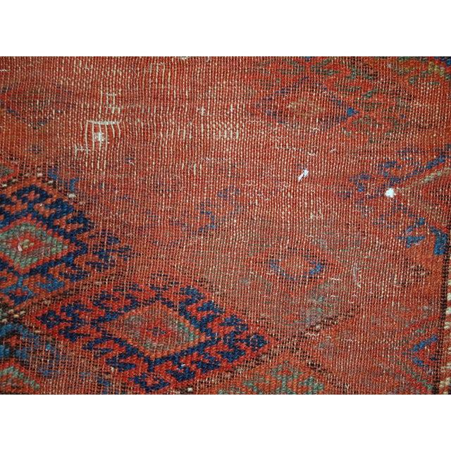 1880s Handmade Antique Persian Kurdish Rug - 2′ × 3′3″ - Image 7 of 10