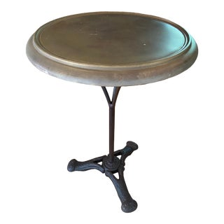 Restoration Hardware Brass and Iron Cafe Table For Sale