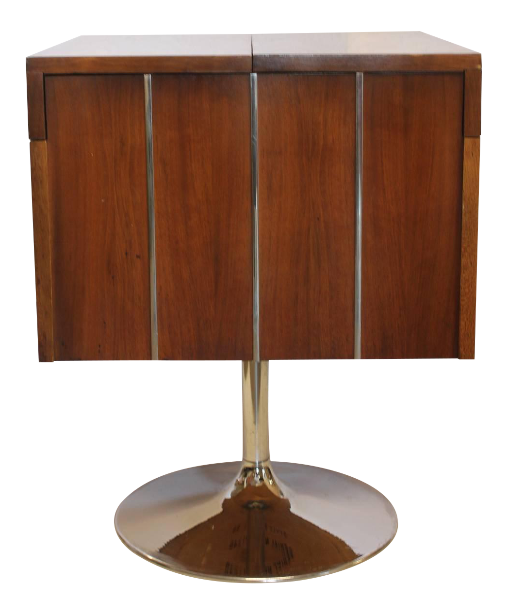 1960u0027s Vintage Lane Swivel Bar Cart For Sale
