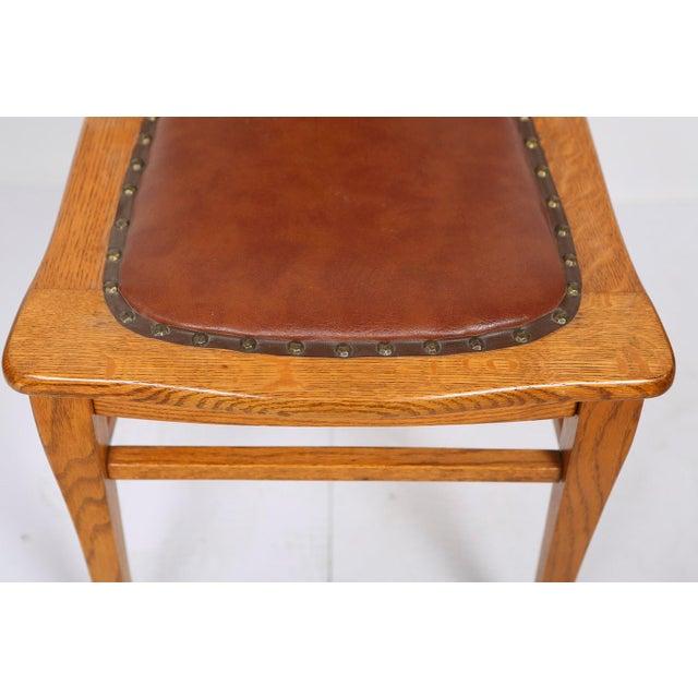 Enjoyable Antique Tiger Oak Dining Chairs Set Of 6 Short Links Chair Design For Home Short Linksinfo