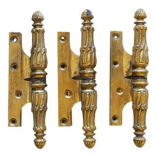 Bronze Door Hinges - Set of 3 For Sale