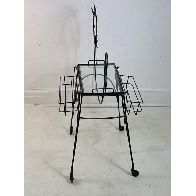 Late 20th Century Frederick Weinberg Horse Bar Cart For Sale - Image 5 of 9