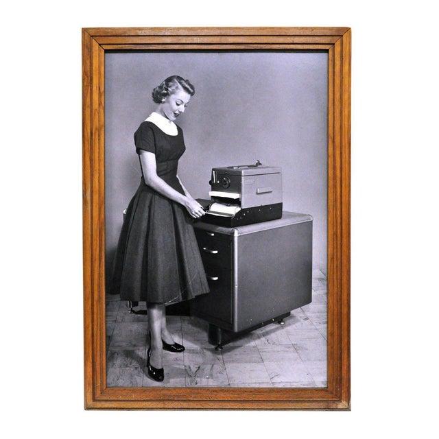 Framed 1956 Kodak Verifax Copier Ad II - Image 1 of 2