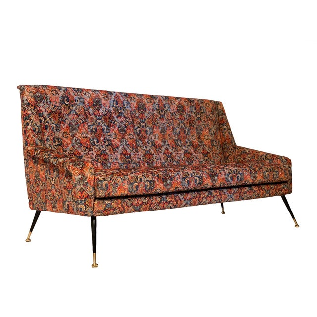 Vintage Italian Sofa With Rubelli Upholstery For Sale - Image 10 of 10