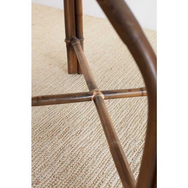 Ficks Reed Midcentury Rattan Dining Table For Sale - Image 12 of 13