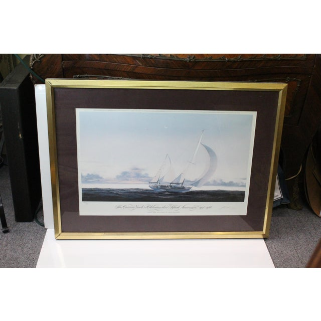 Mid 20th Century John Mecray Concordia Yawls Print For Sale - Image 5 of 9
