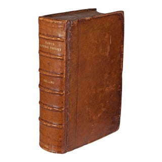 Early 17th Century Decorative Leather Folio Book, Pliny the Historie of the World For Sale