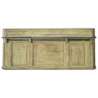 19th Century French Two-Part Painted Dry Bar With Zinc Top For Sale