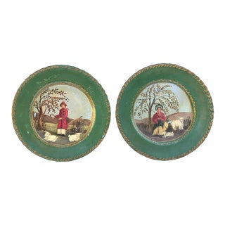 Decorative Hand Painted Asian Plates - A Pair