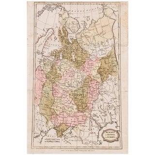 1806 Brightly and Kinnersley Map of Euro Russia For Sale