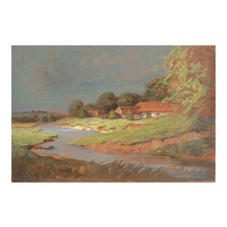 'Impressionist Landscape' by Endre Komaromi-Kacz, Munich Trained, National Academy, Budapest, Hungarian National Gallery For Sale