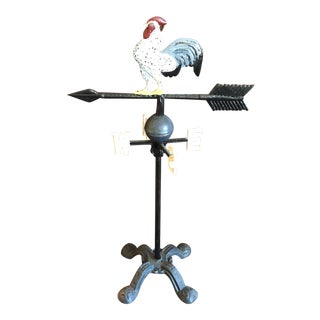 1970s VI Tags Mounted Rooster Weathervane For Sale