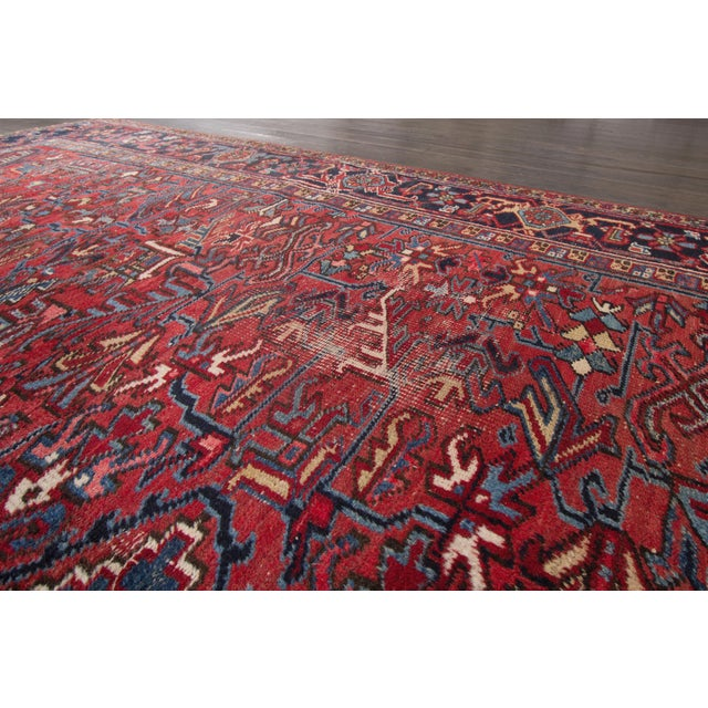 "Vintage Red Apadana Persian Rug - 8'2"" X 12' - Image 7 of 10"
