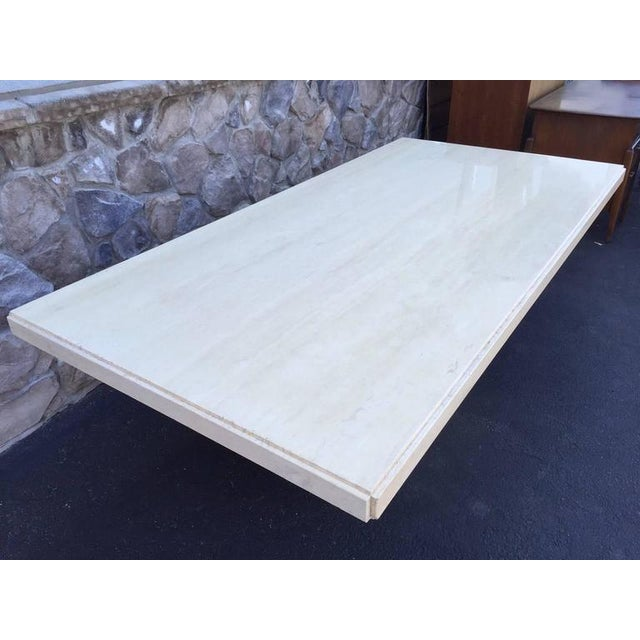 Large Italian Travertine Dining Table - Image 3 of 6