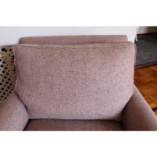 Textile Custom Made Upholstered Lounge Chairs - A Pair For Sale - Image 7 of 8