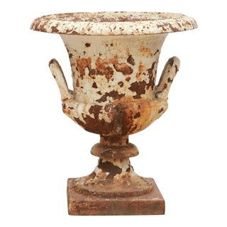 Rusted Cream Antique Urn For Sale