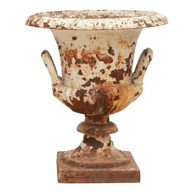 Rusted Cream Antique Urn - Image 1 of 5