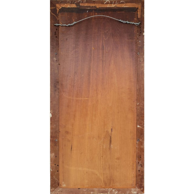 19th-C Federal Reverse Painted Giltwood Tabernacle Trumeau Mirror For Sale - Image 4 of 6