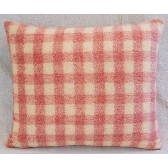 Scottish Plaid Wool & Velvet Down/Feather Pillow - Image 3 of 6