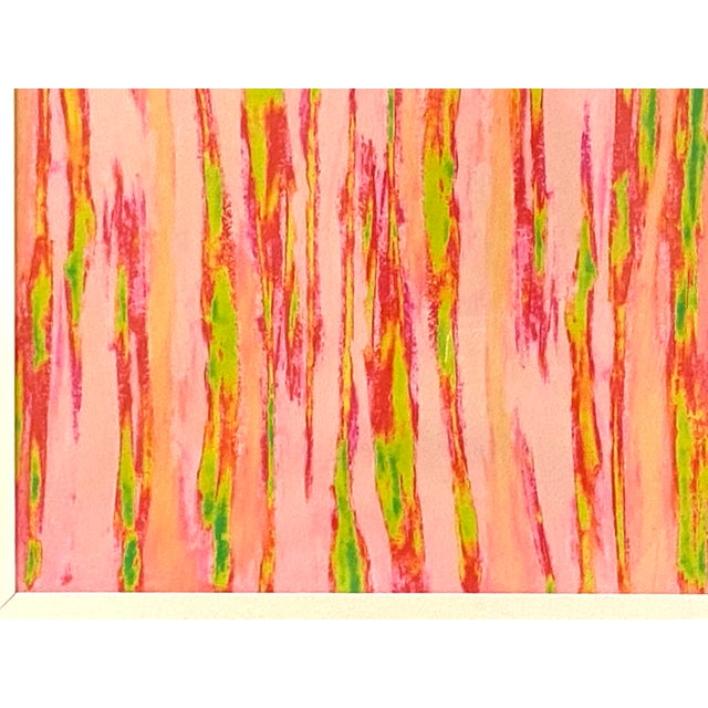 """Wood Abstract Pink Green """"Enlightened Terrain"""" Artist's Print by Suga Lane For Sale - Image 7 of 13"""