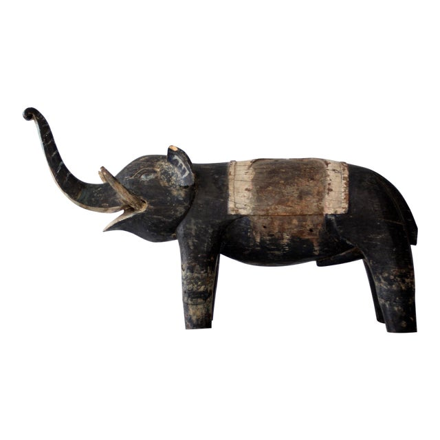 Antique Wooden Elephant For Sale