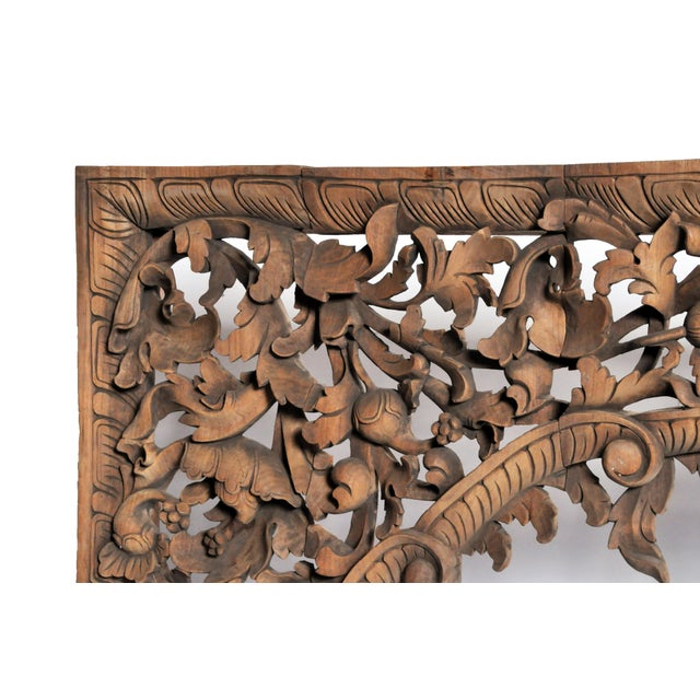 Vintage Burmese Hand-Carved Arch For Sale In Chicago - Image 6 of 13
