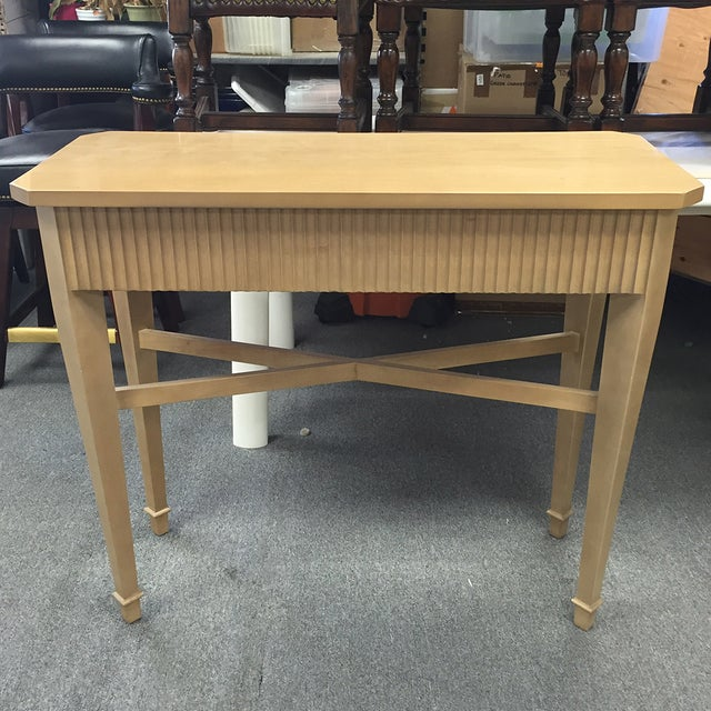 Nancy Corzine Tan Fluted Console Table - Image 3 of 11