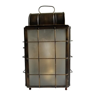 American Colonial Style Brass Lantern Lamp For Sale