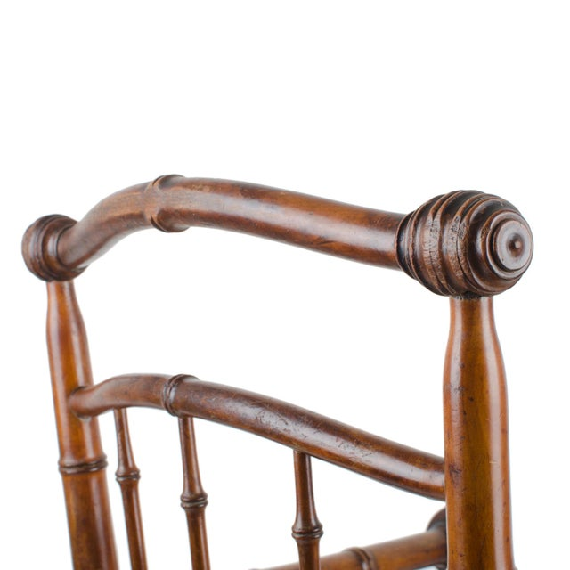 R.J. Horner & Co. Faux-Bamboo Armchair - Image 10 of 10
