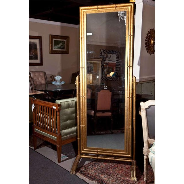 Gilt Metal Cheval Mirror - Image 2 of 6