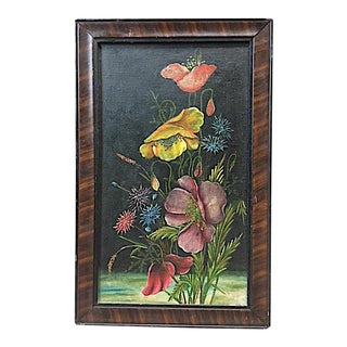 Early 20th Century Antique Framed Floral Painting For Sale