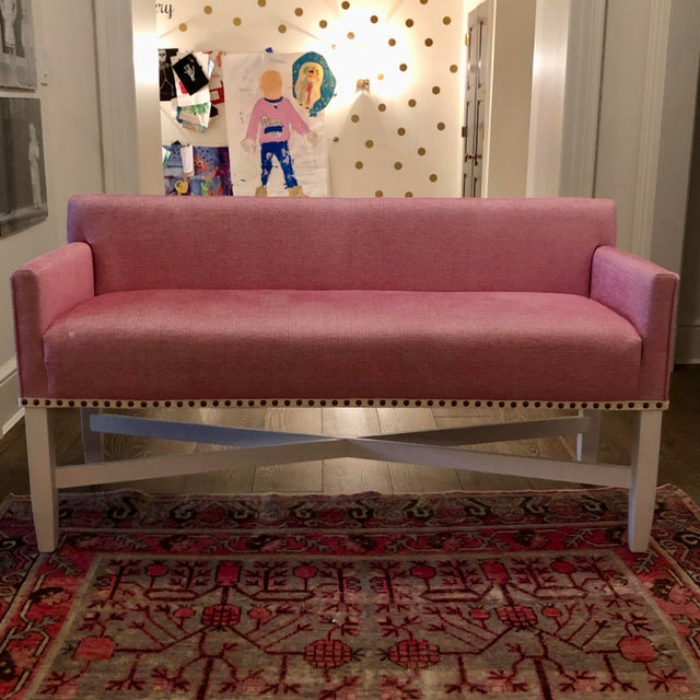 Pink Upholstered Oomph Tini X Bench For Sale - Image 13 of 13