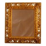 Image of 19th Century Italian Gilt Wood Mirror For Sale
