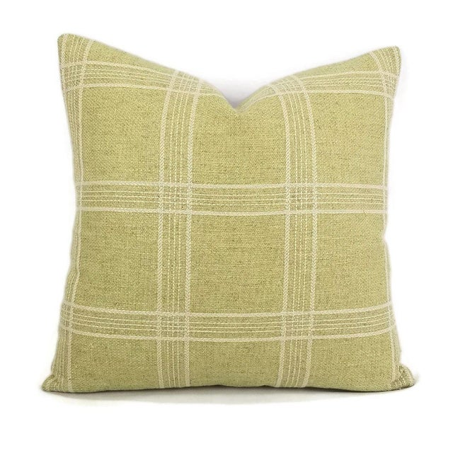 Colefax and Fowler Ellary Plaid Jacquard Accent Pillow For Sale - Image 4 of 4