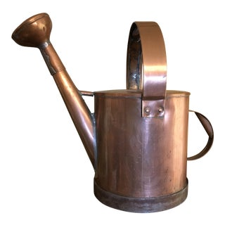 1980s French Country Copper Garden Watering Can