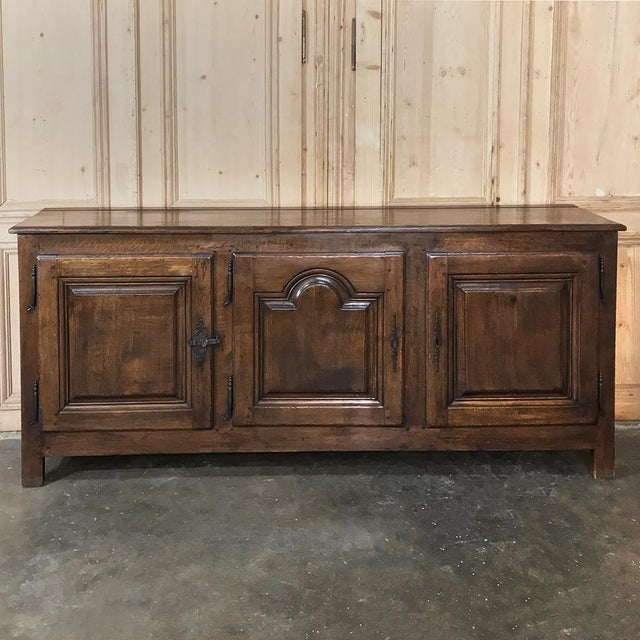 18th Century Country French Provincial Low Buffet For Sale - Image 4 of 13