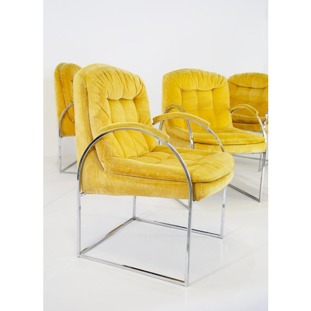 Milo Baughman Set of 6 Chairs by Milo Baughman From 1970. American Design. For Sale - Image 4 of 6
