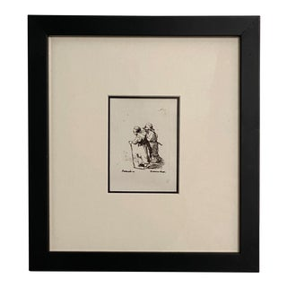 Late 18th Century Rembrandt Etching #23, by Francesco Novelli For Sale
