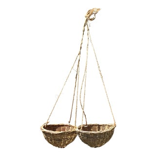 20th Century Boho Chic Hanging Baskets - a Pair For Sale