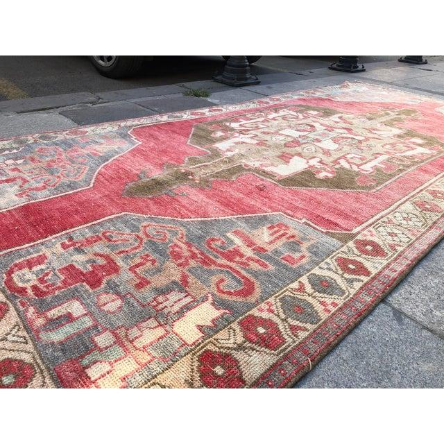 Art Deco Tribal Turkish Carpet For Sale - Image 3 of 11