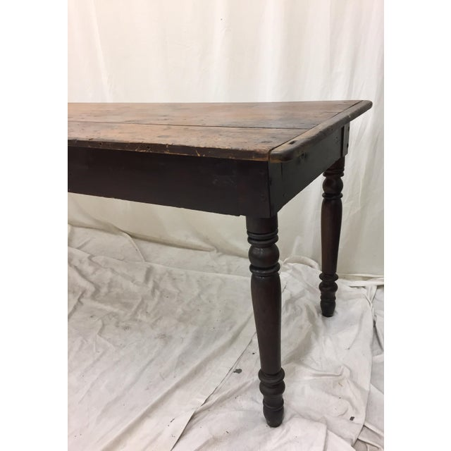 Antique Harvest Farm Table For Sale - Image 11 of 11