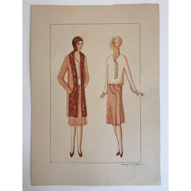 Twelve Fashion Designs by University of Washington Student, 1929 For Sale - Image 13 of 13