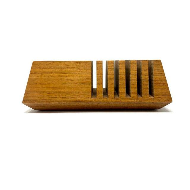Mid-Century Modern Geometric Wooden Desk Organizer For Sale - Image 4 of 13