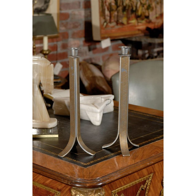 Art Deco Candlesticks - Pair For Sale - Image 4 of 5