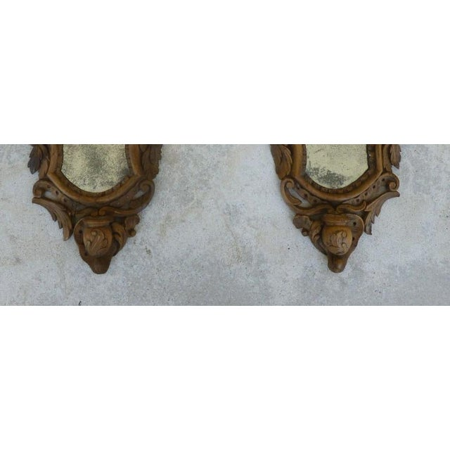 Fine 19th C Italian Venetian Rococo Wood Mirrors With Fruits - a Pair For Sale In Miami - Image 6 of 10