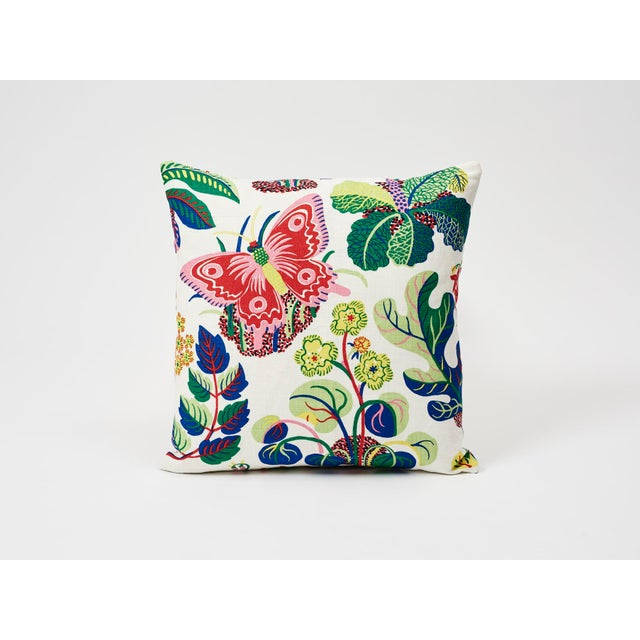 Schumacher Pillow in Exotic Butterfly Spring Print For Sale In New York - Image 6 of 7